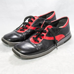 Stuart Weitzman Leather Sneakers size 6 Red/Black